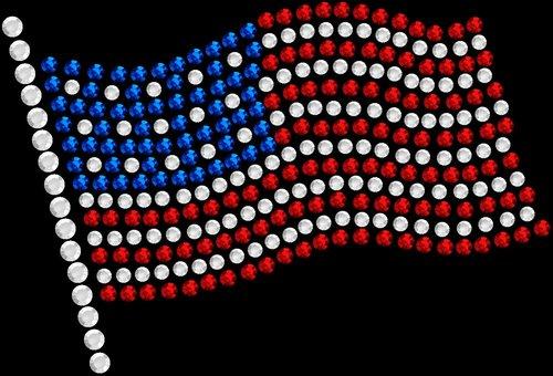 "A907- American Flag  4"" W .     Add on price: $2.25"