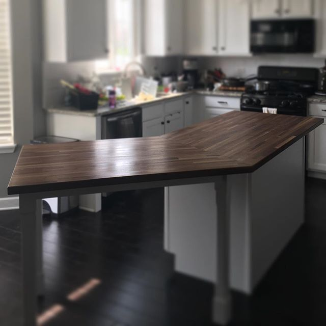 "1.5"" thick Black Walnut island w/polyurethane"