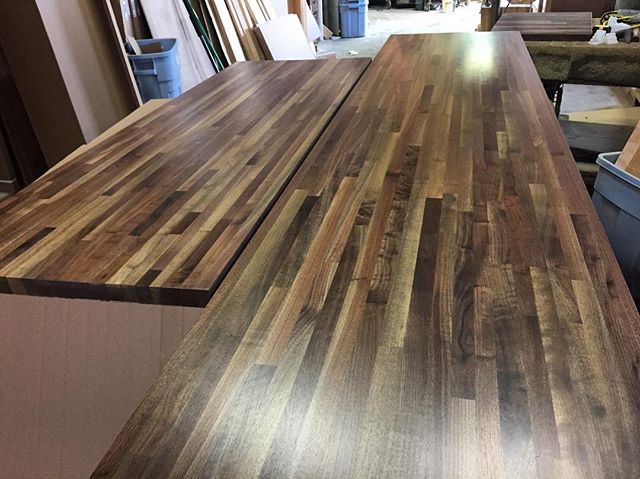 Black Walnut tops ready to be cut to size