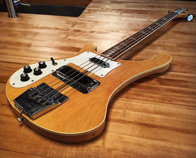 These Wood-Welded Maple Butcher Block tops are the only counters stunning enough to be paired with this '78 Rickenbacker