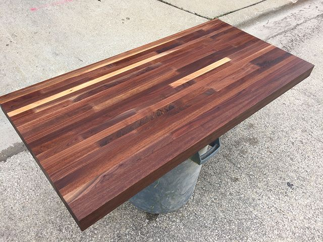 "FOR SALE: heavily discounted 2-3/4"" thick custom Black Walnut top. Mineral oil finish.  26.5"" x 53""- will cut down to size for no extra charge. $560 + tax.  Email: oneillproducts at gmail dot com"