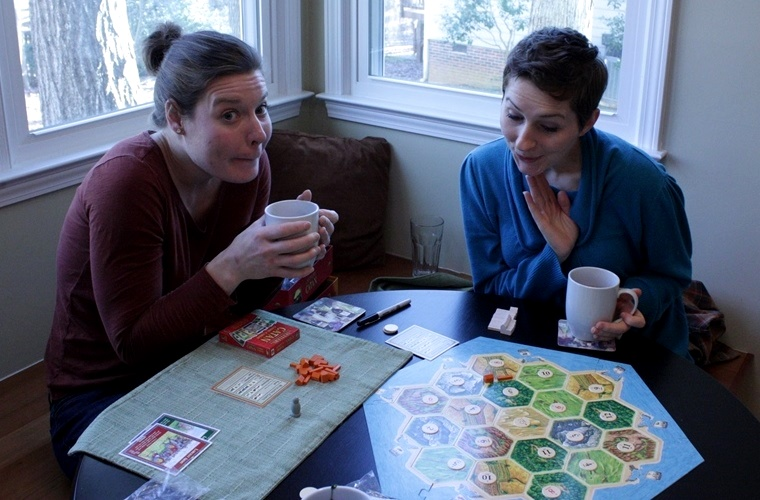 What else is there to do while you wait for stock to be made but to play Settlers of Catan.