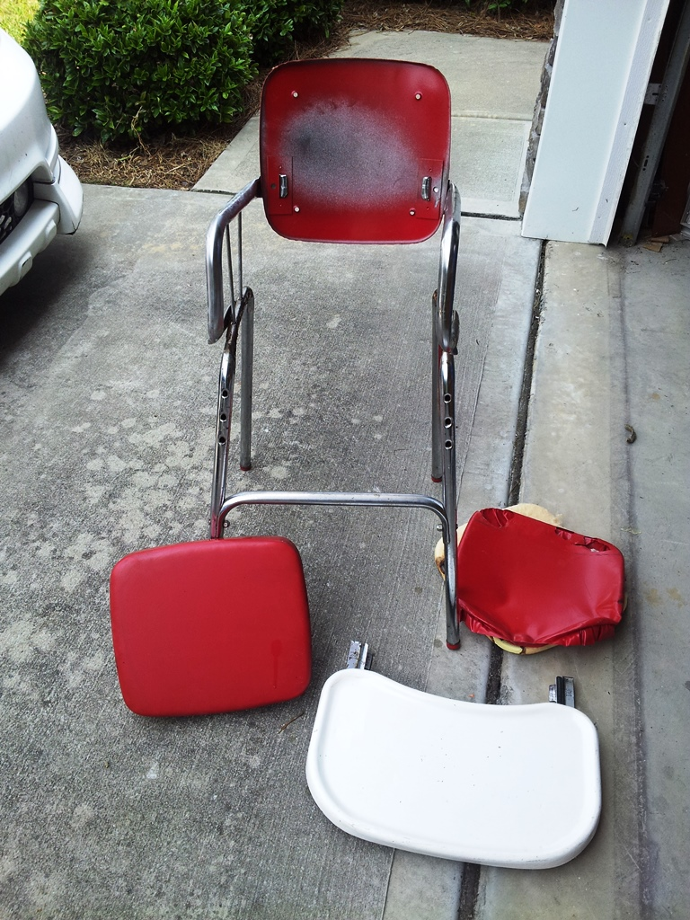 This chair was found on the side of the road begging to be refurbished!