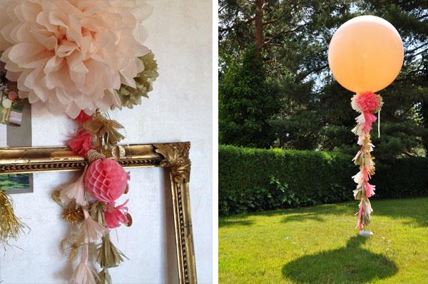 Riesenballons Tasselbänder