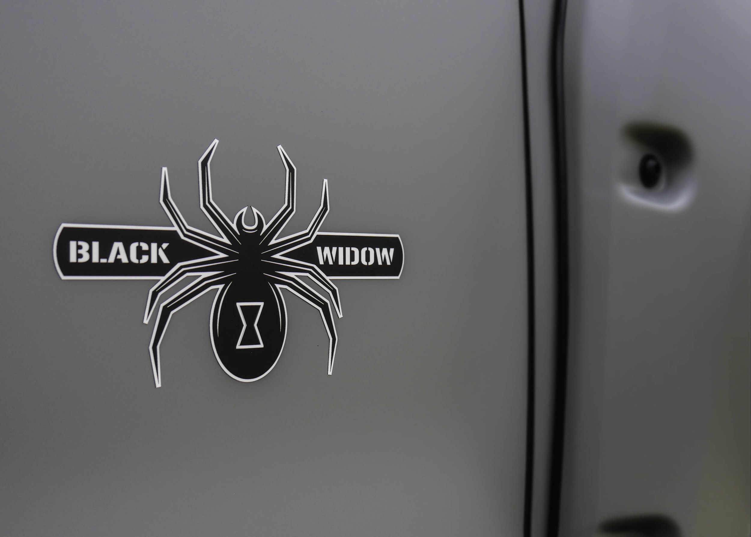 SCA Armed Forces Black Widow Logo