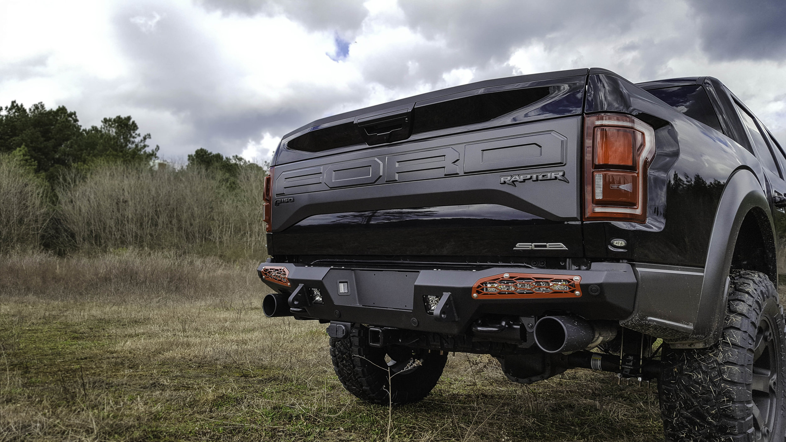 Lifted Ford Raptor Red Rear.jpg