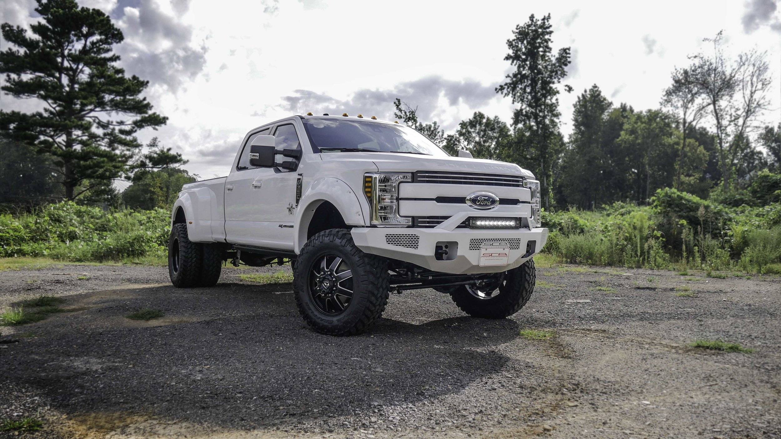Ford F350 Dually Black Widow White with Color Match Bumper Small.jpg