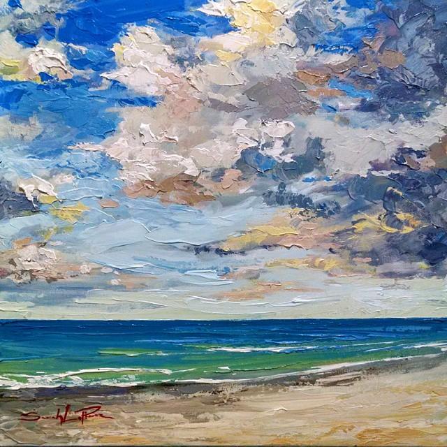 """""""Cloud Study"""" 18x18 - SOLD"""