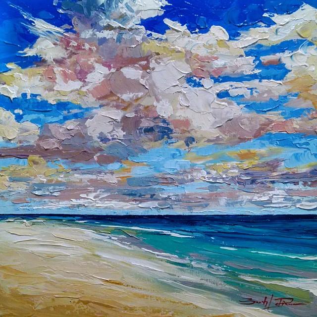 """Cloud Study III"" 18x18 - SOLD"