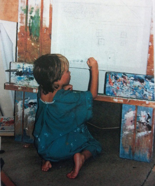 Around the age of six I was architecturally inspired, and also my own hairdresser....
