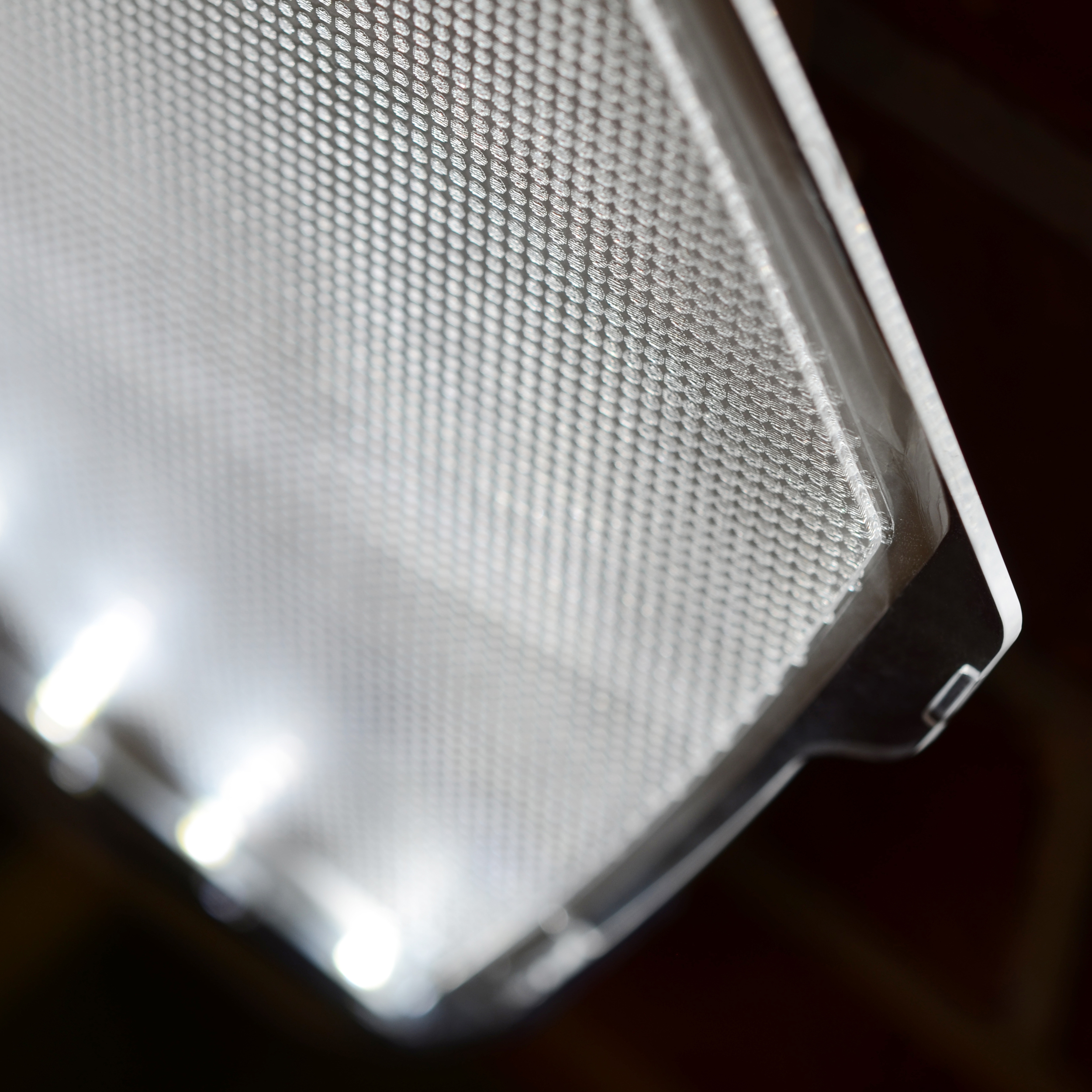 Advanced light panel design provides even light coverage