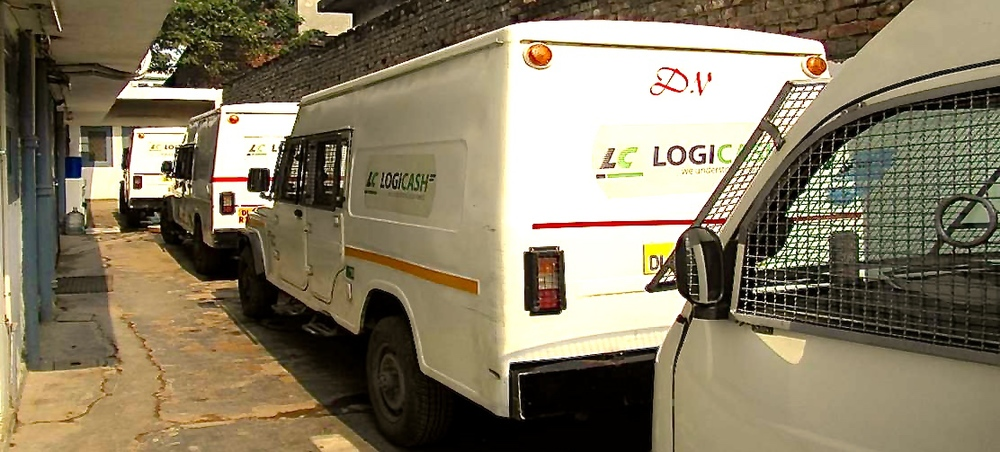 De transportauto's van LogiCash in Mumbai (foto: LogiCash)
