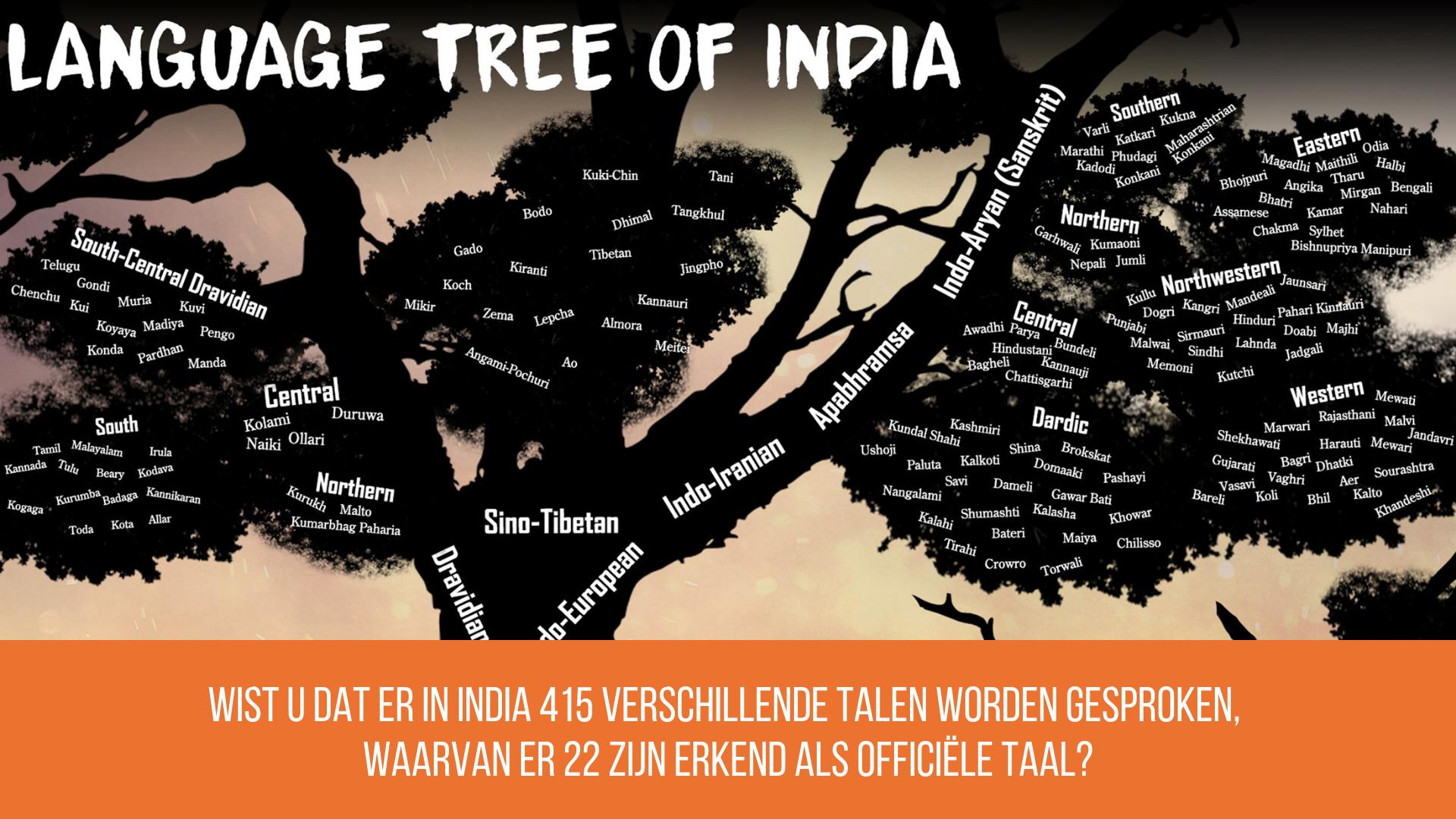De zakelijke cultuur in India kent meer dan 22 talen