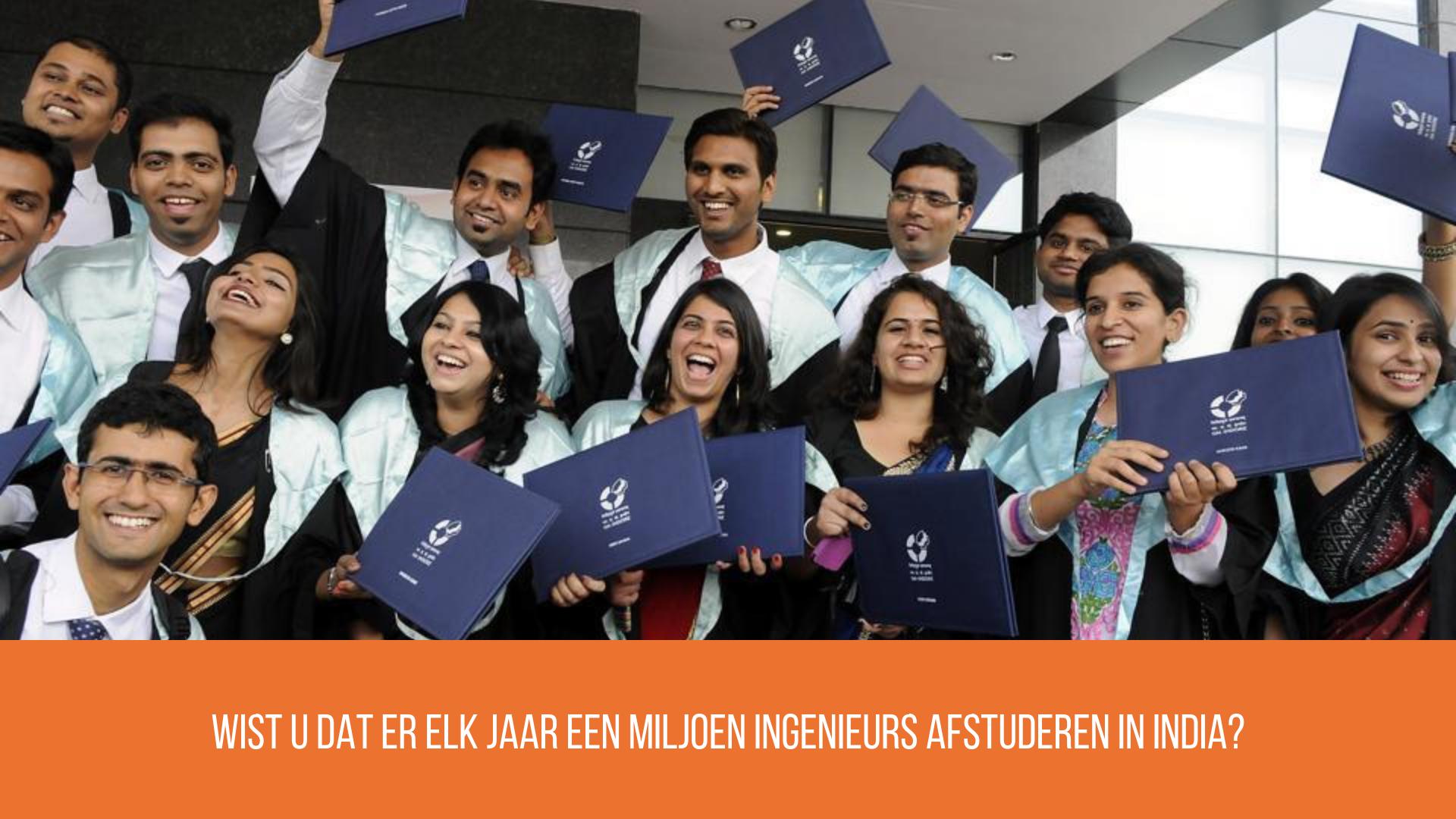 Studenten in India studeren af op technische studies