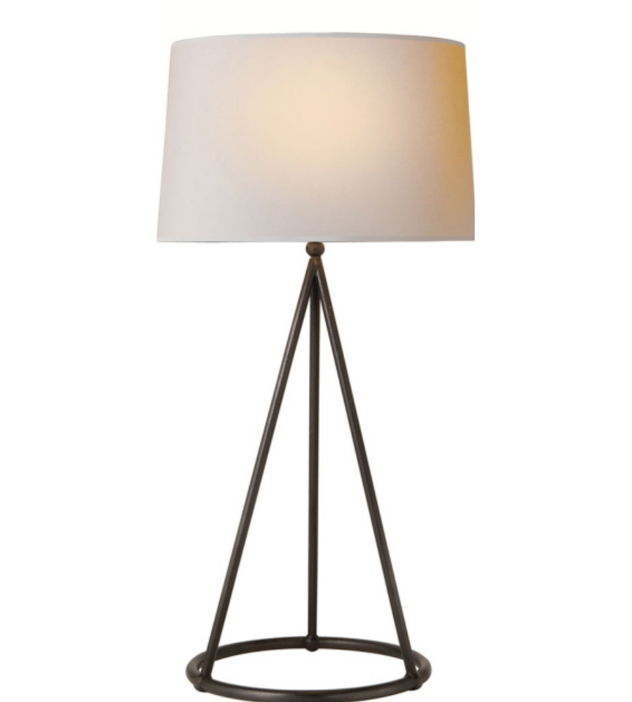 Nina Tapered Table Lamp in Aged Iron