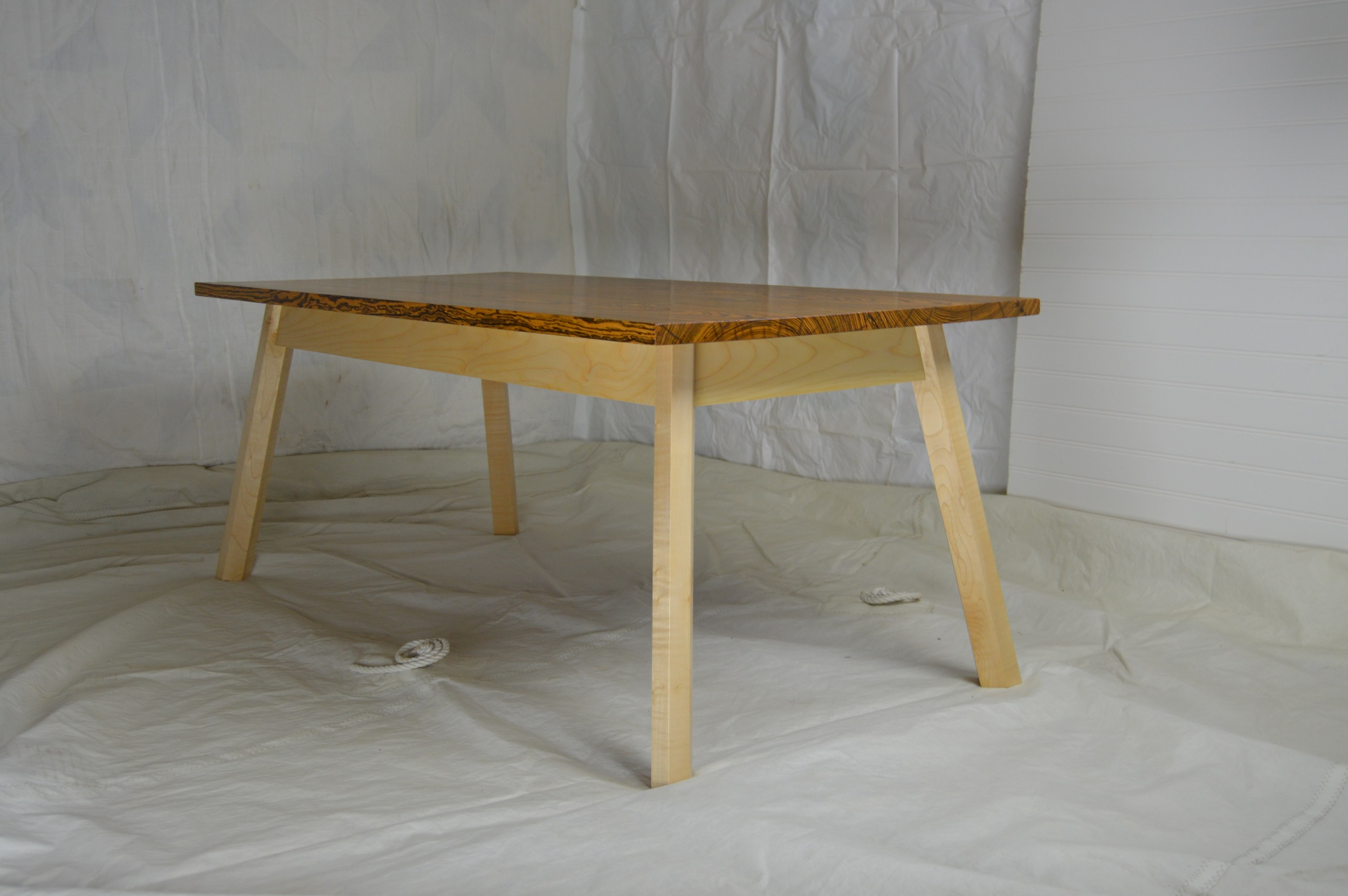 Bocote Coffee table with European Sycamore Legs