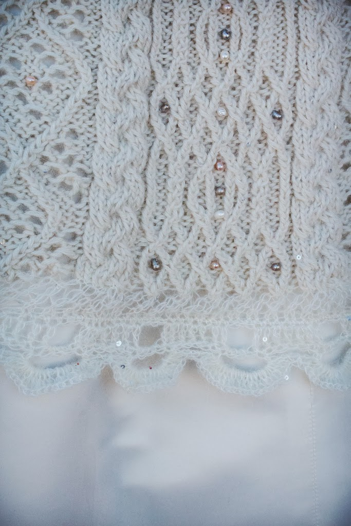 The finished lace.