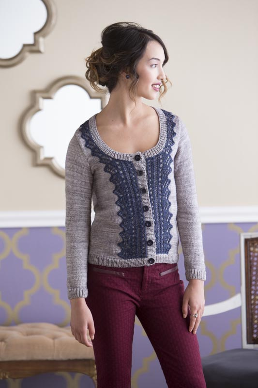 Montreal Lace Panel Cardigan