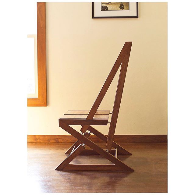 The focus at Eaton Designs is custom mill work but on occasion we will revisit our passion for building furniture. This chair is an accumulation of all who inspire us. It doesn't have the flowy curves of Sam Maloof's chairs but it  does have his heart and soul as a woodworker. The chair doesn't have live edges of George Nakashima's furniture but it does emphasize  the natural beauty of the material it was made from. Frank Gehry and Frank Lioyd Wright are also big influences as well as the every day people I grew up with in Big Sur who hand made the things they needed. they were always purpose built but with unique style. It is all of these people who help shape Eaton Designs. Photography by @stephenschauer  #furniture #furnituredesign #furnituredesigner #woodworking #woodfabrication #chairs #craftsmanship #customfurniture #carpentry #carpentryskills #carpentrywork #fabrication