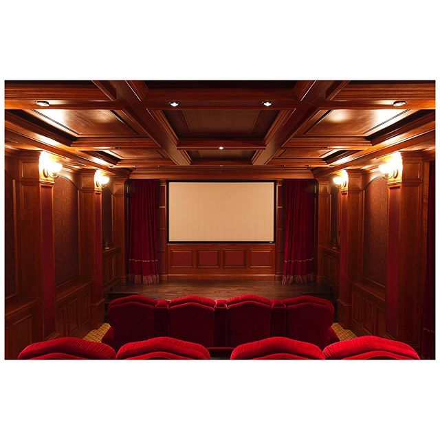 Previous project where we did the #millwork for a basement conversion into a home theater.  Photography by @stephenschauer  #hometheater #millworkdesign #woodinstallation #woodfabrication #woodwork #residential #interiormillwork #craftsmanship #losangeleswoodwork #losangelesdesign #losangelescarpentry