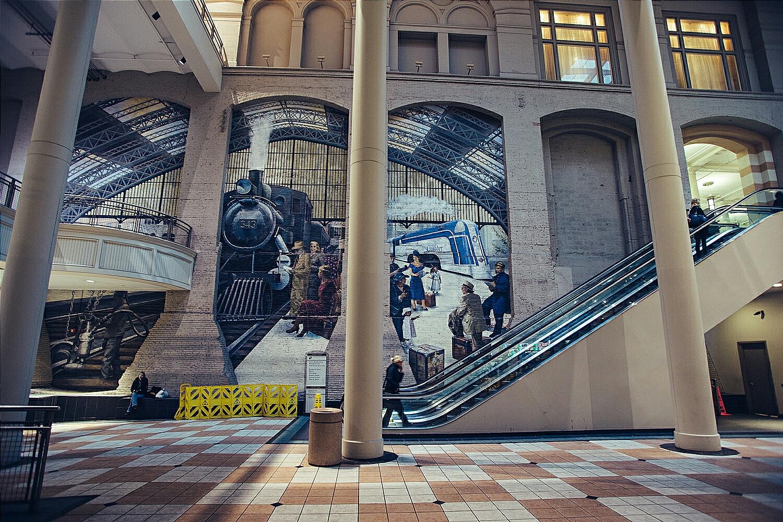 The Jefferson train station in Philadelphia