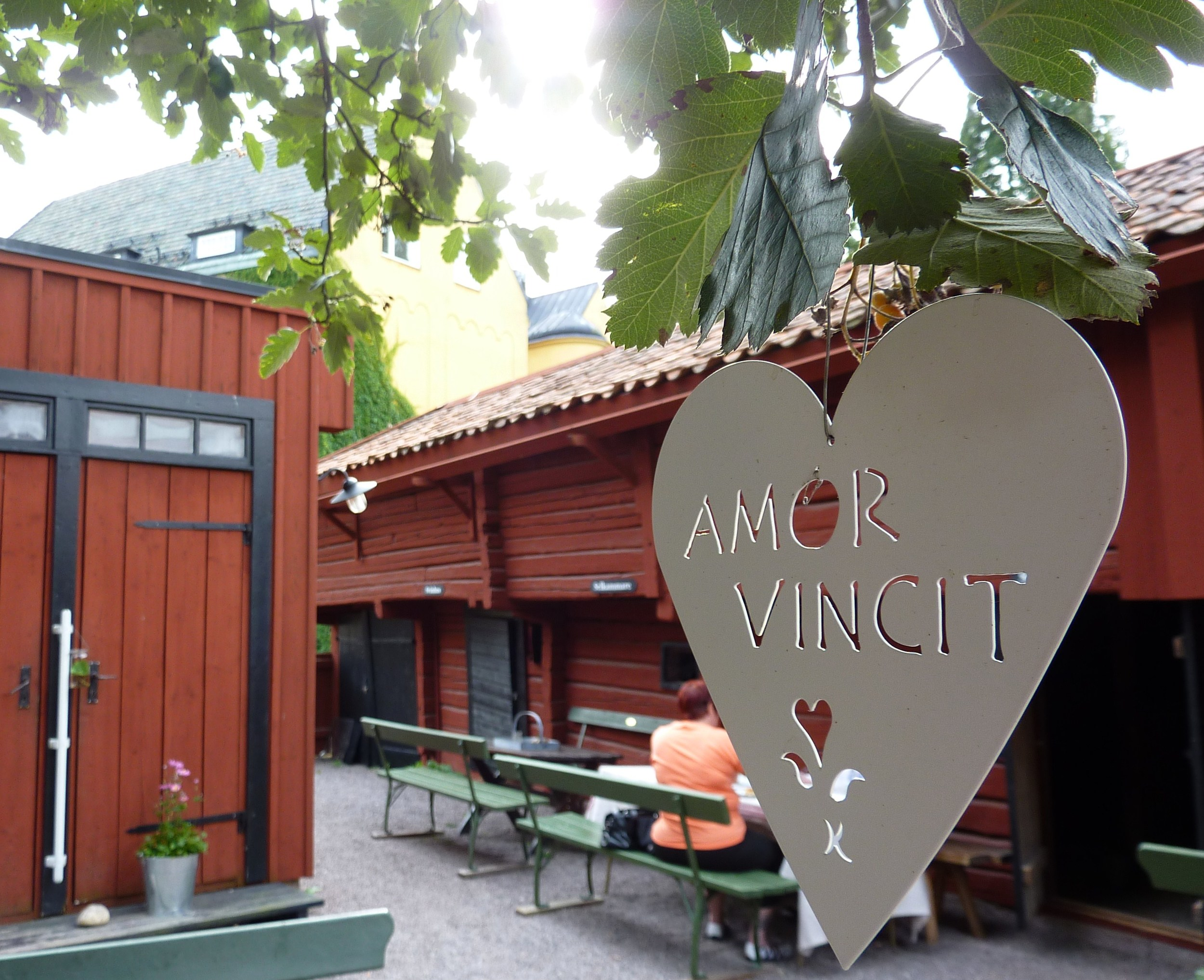 Ett budskap från hjärtat på ett café i Strängnäs.