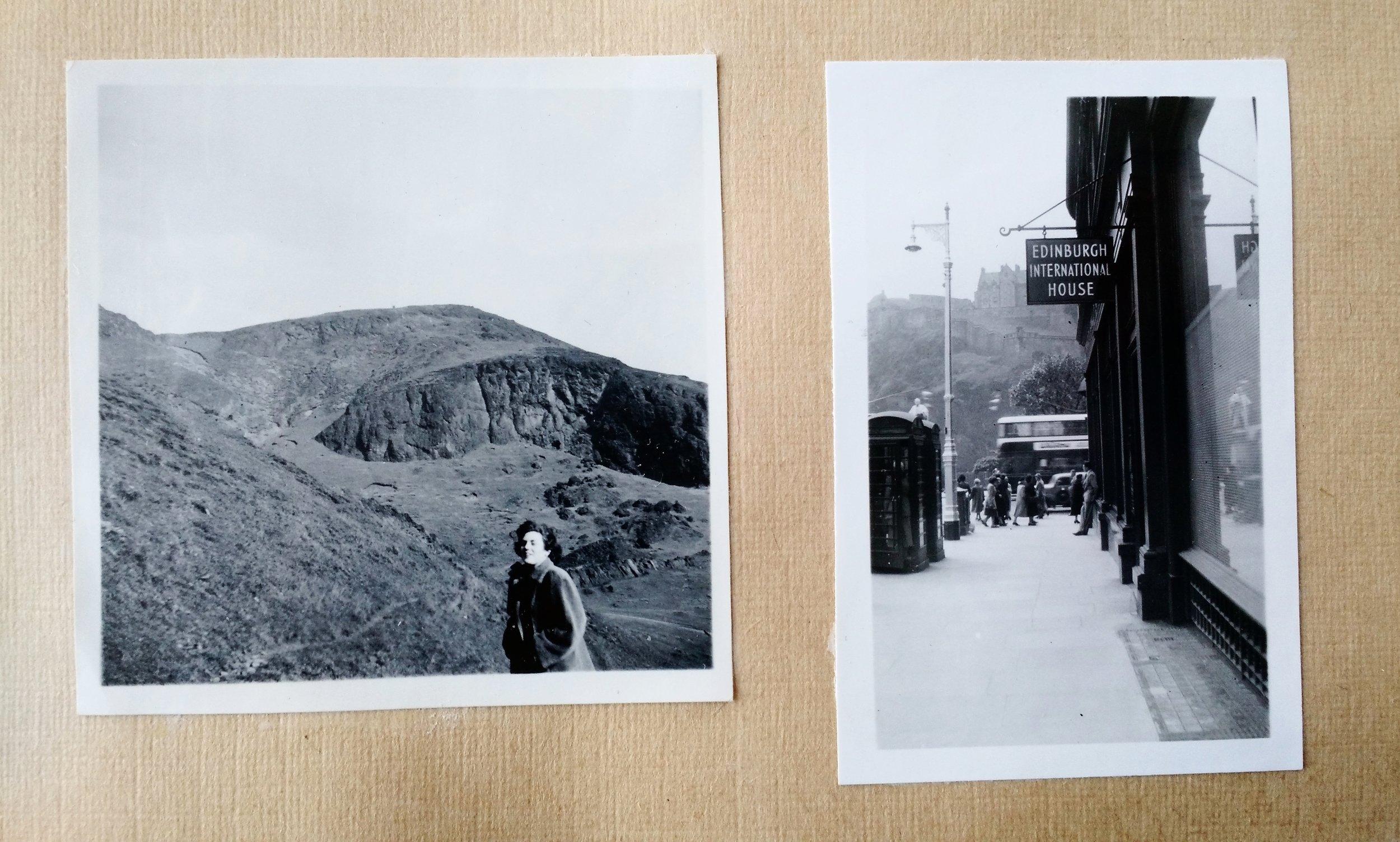 Glimtar ur min mormors fotoalbum från Edinburgh.