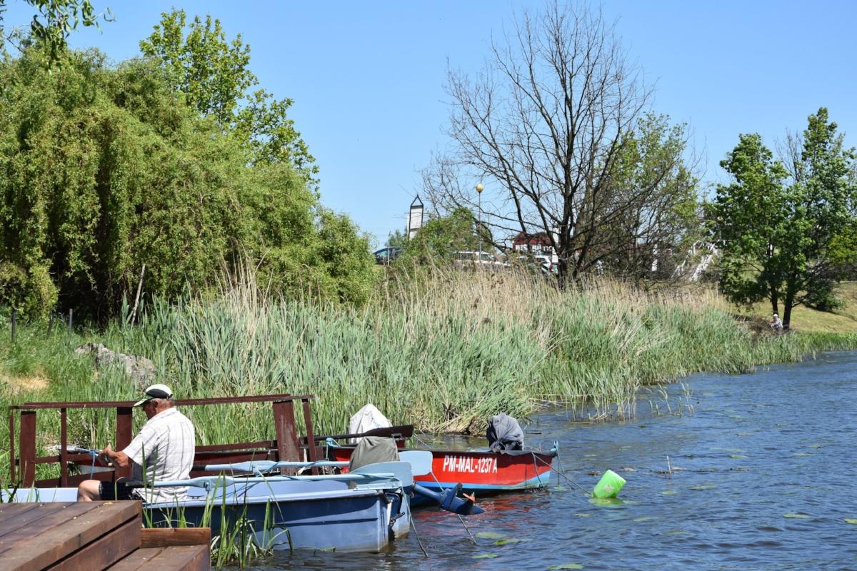 Byns fiskare lever fortfarande av Wisła