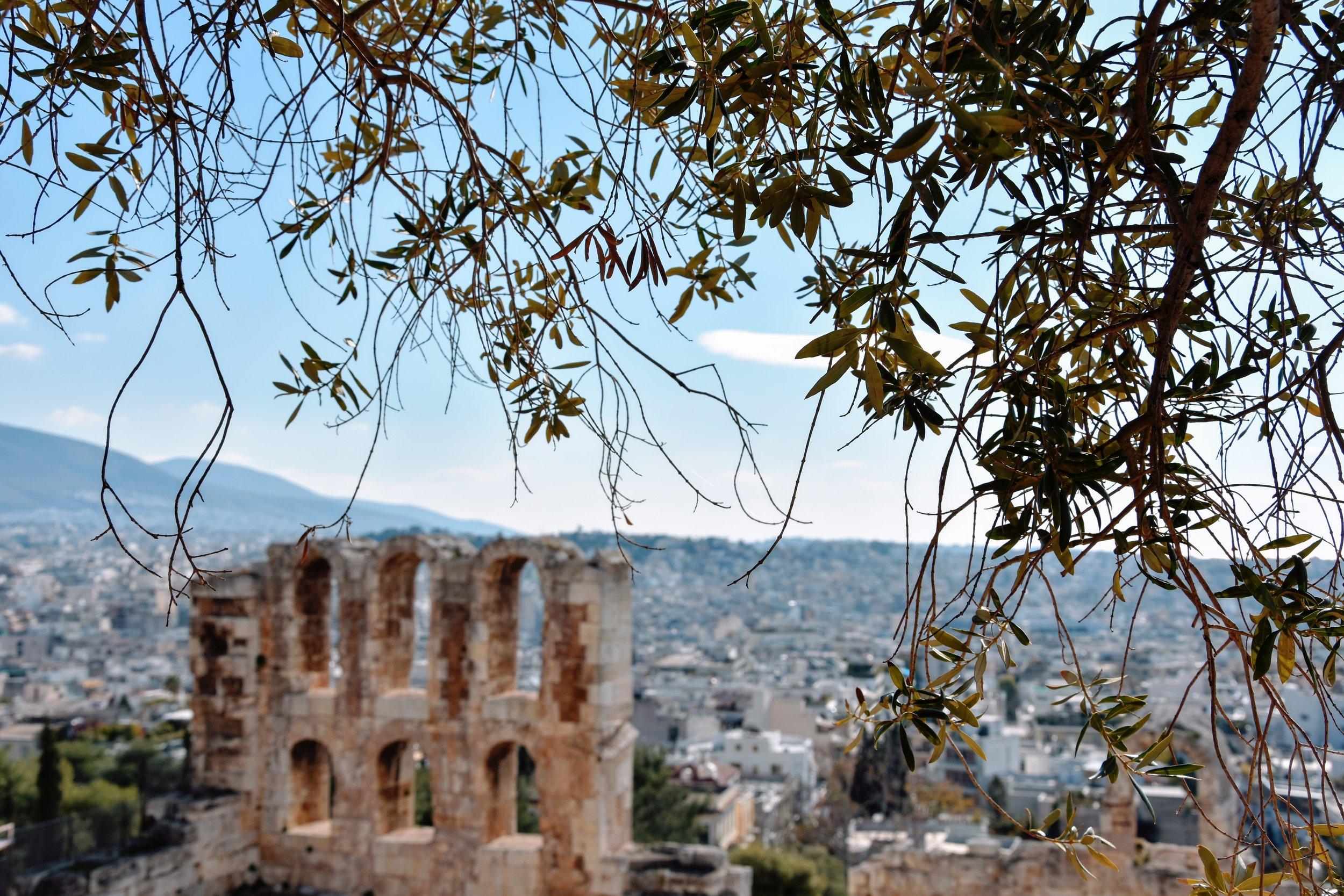 Akropolis i Aten - antikens heliga klippa och Athenas