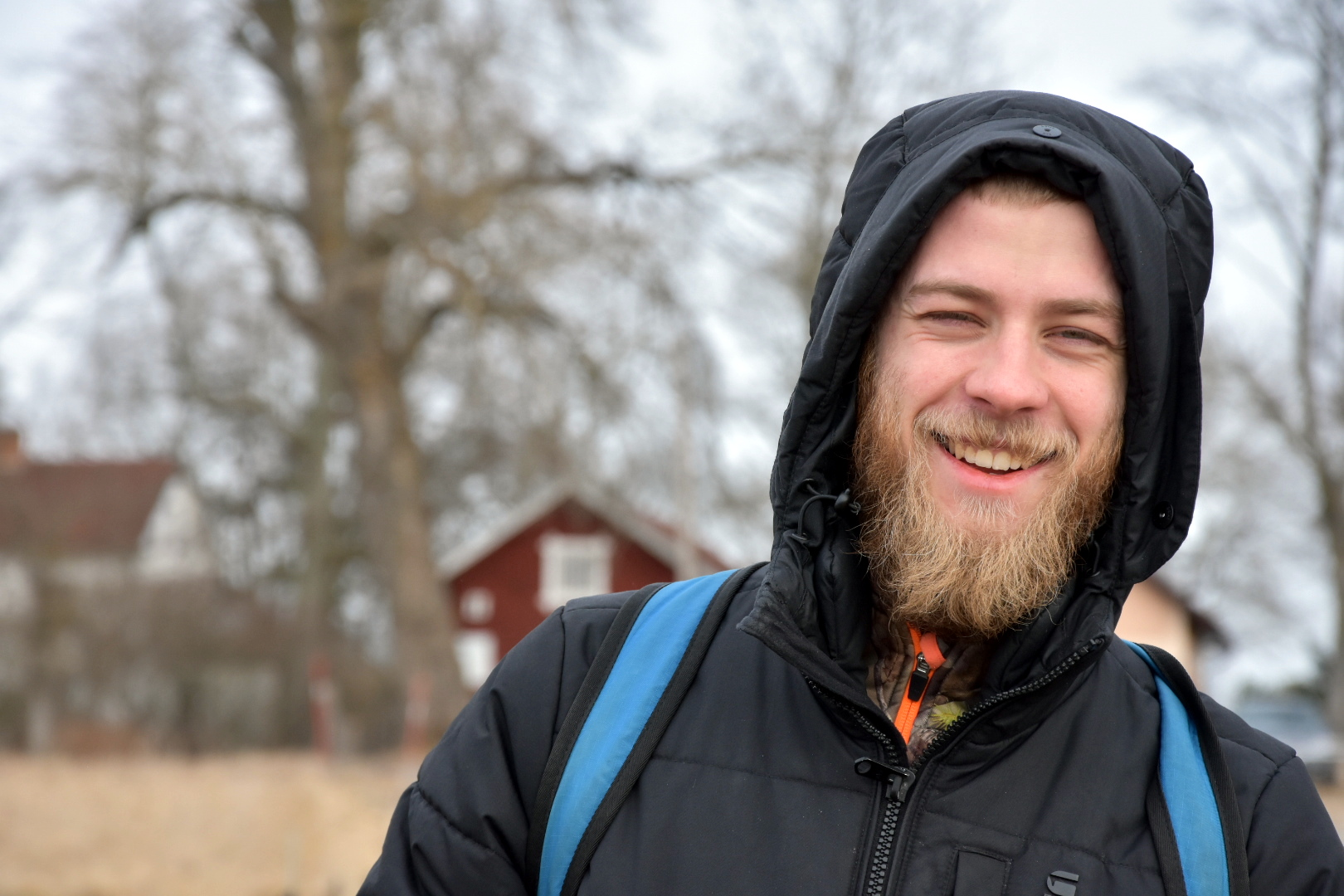 Gunnar vid svansjön Tysslingen förra våren.