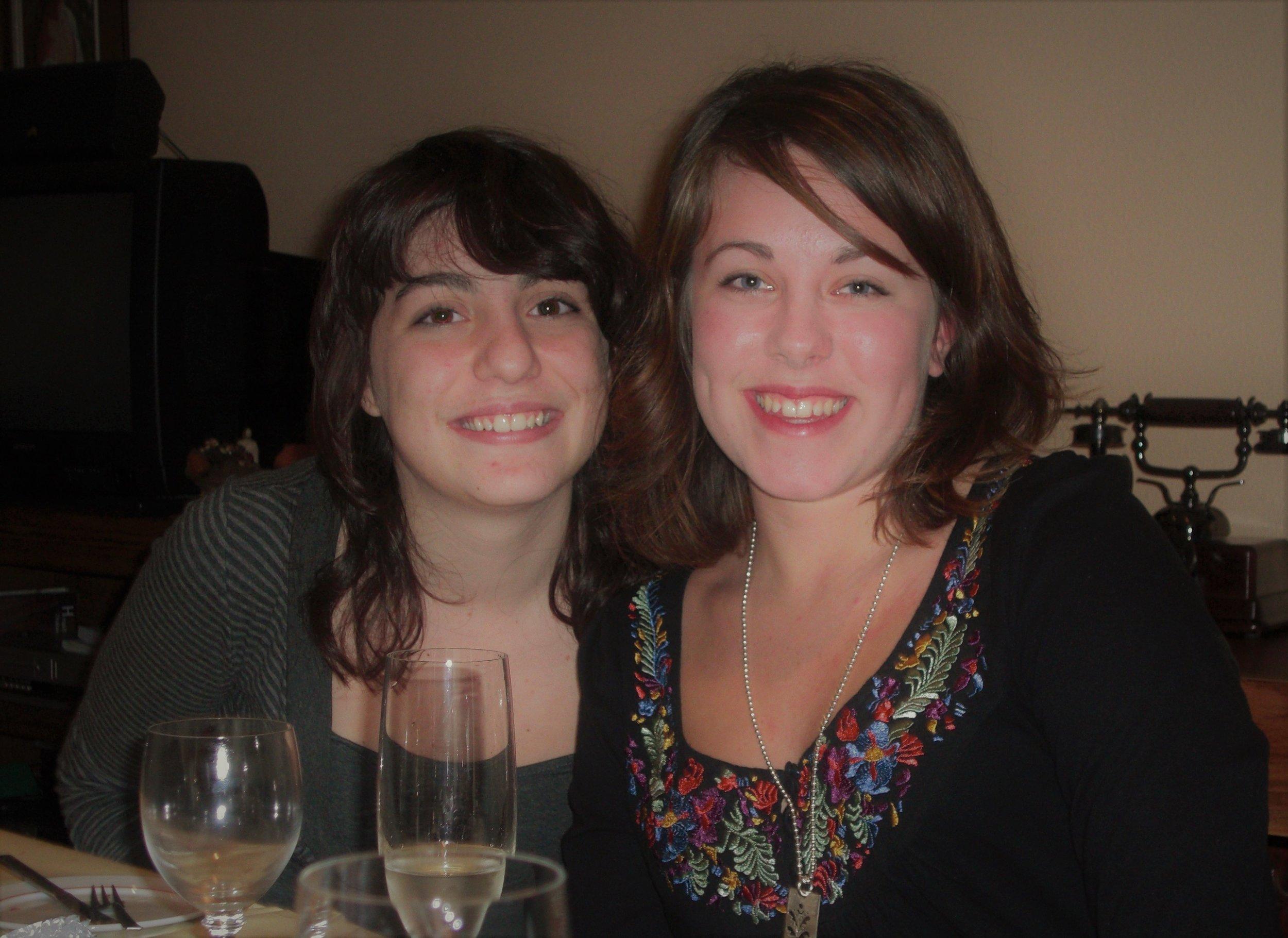 """Min spanska """"syster"""" och jag, i Alcoy, Spanien."""