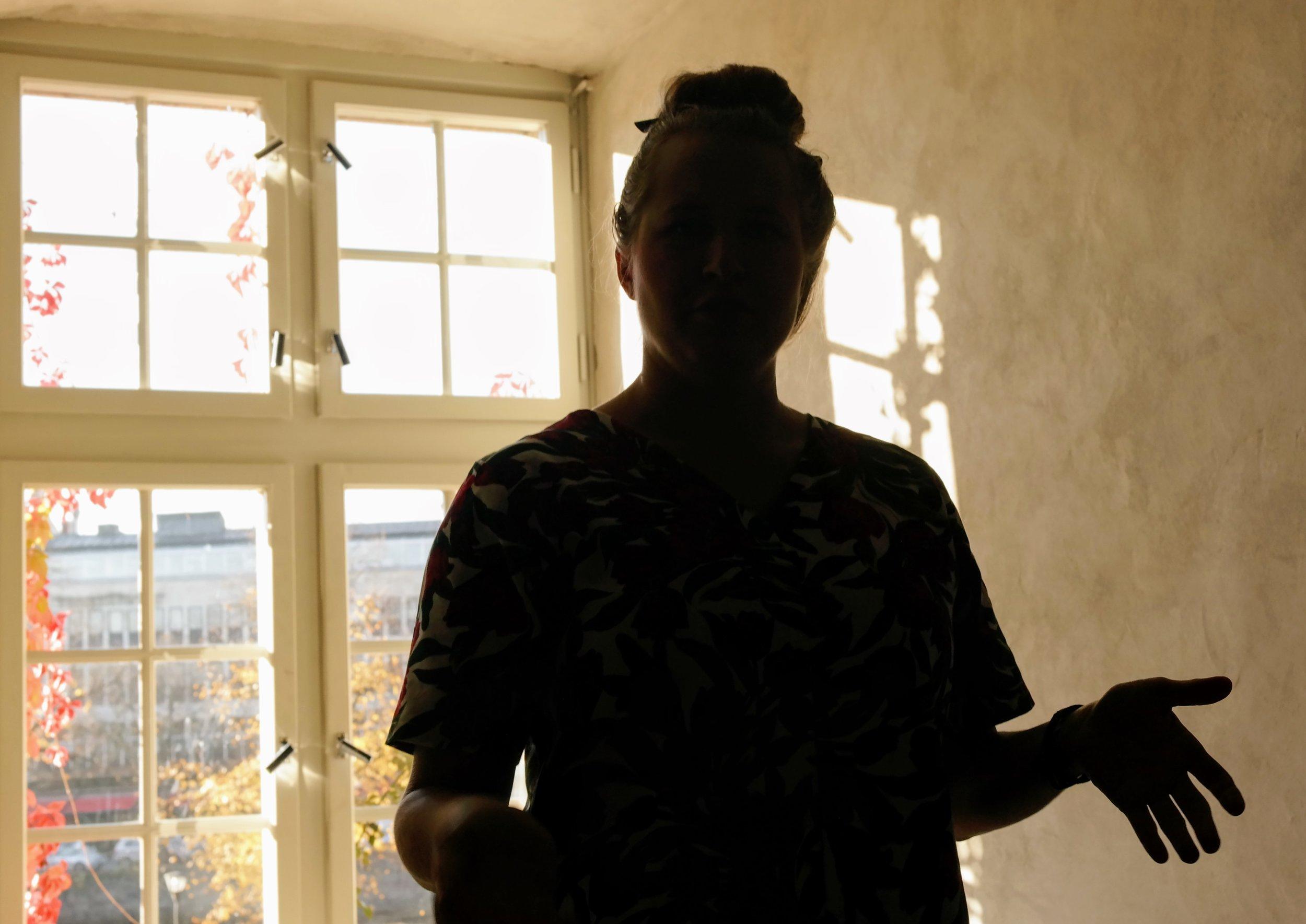Linda Engström håller workshop