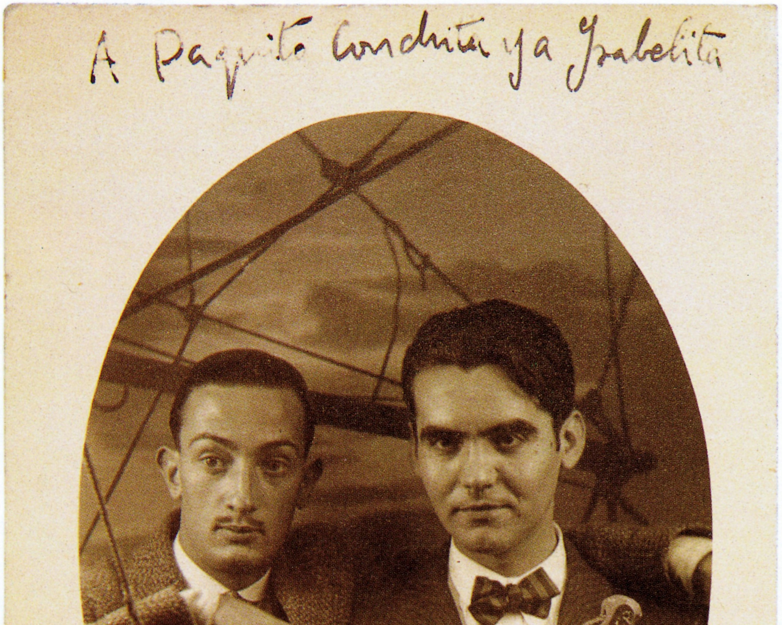 Lorca (till höger) med sin vän, konstnären Dalí.