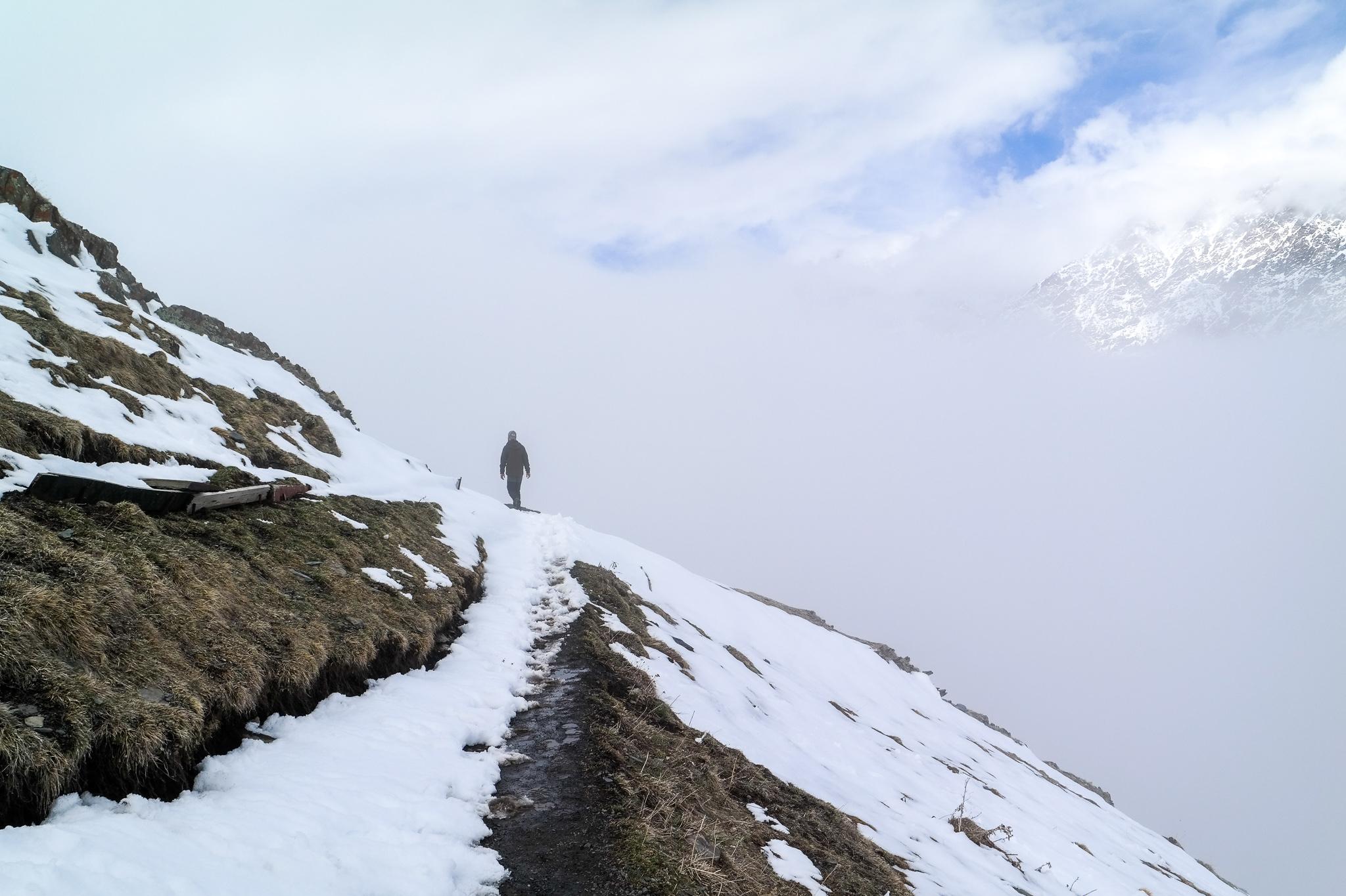 Vintervandring i norra Georgien, bara några kilometer från ryska gränsen.
