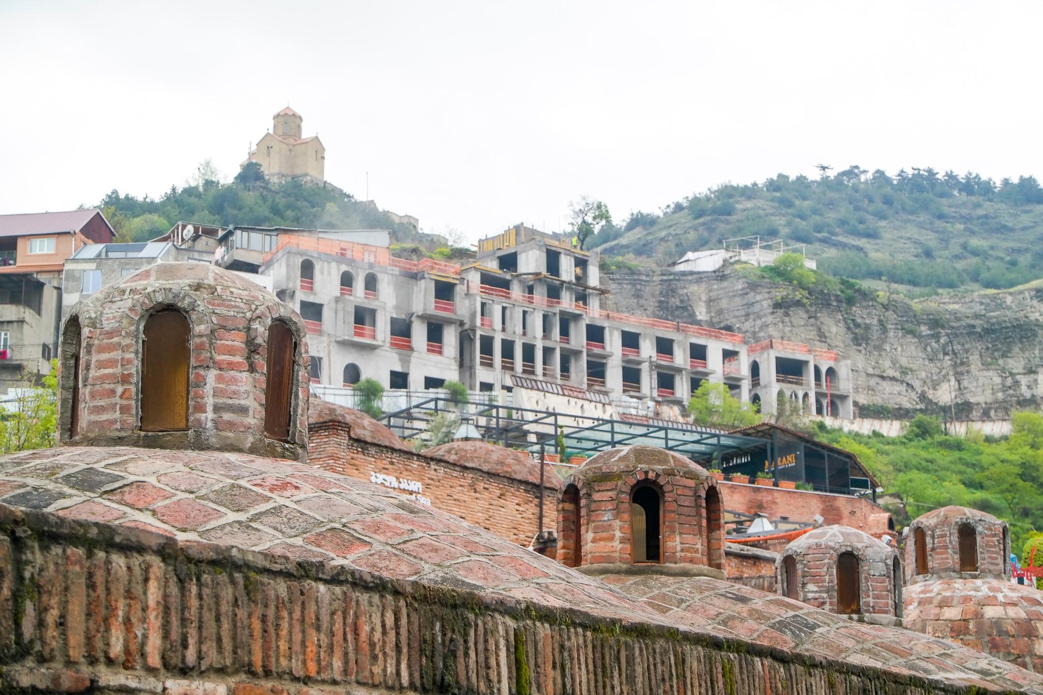 Badhuskvarteren i Tbilisi.