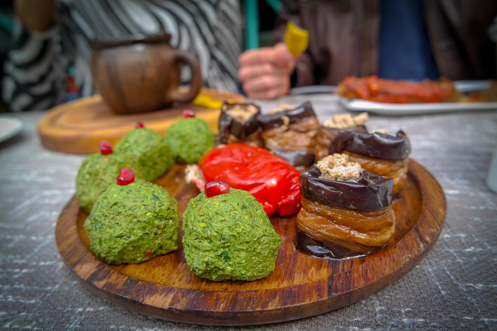 Georgisk mat är ofta vegetarisk - och nästan alltid underbart god!