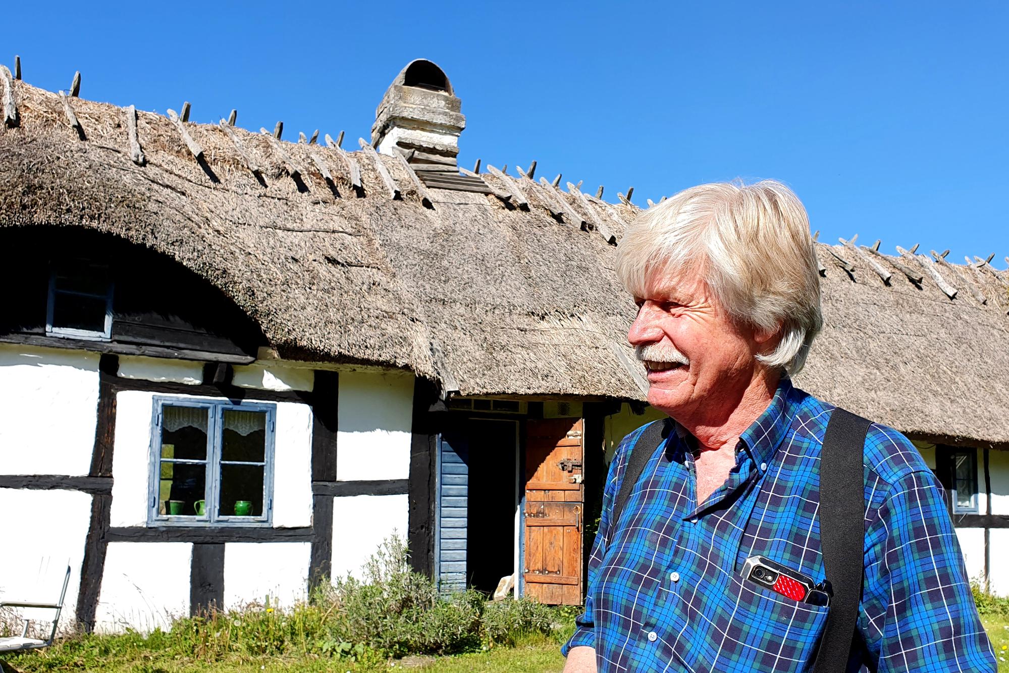 Ingemar berättar inlevelsefullt om bygdens profiler.