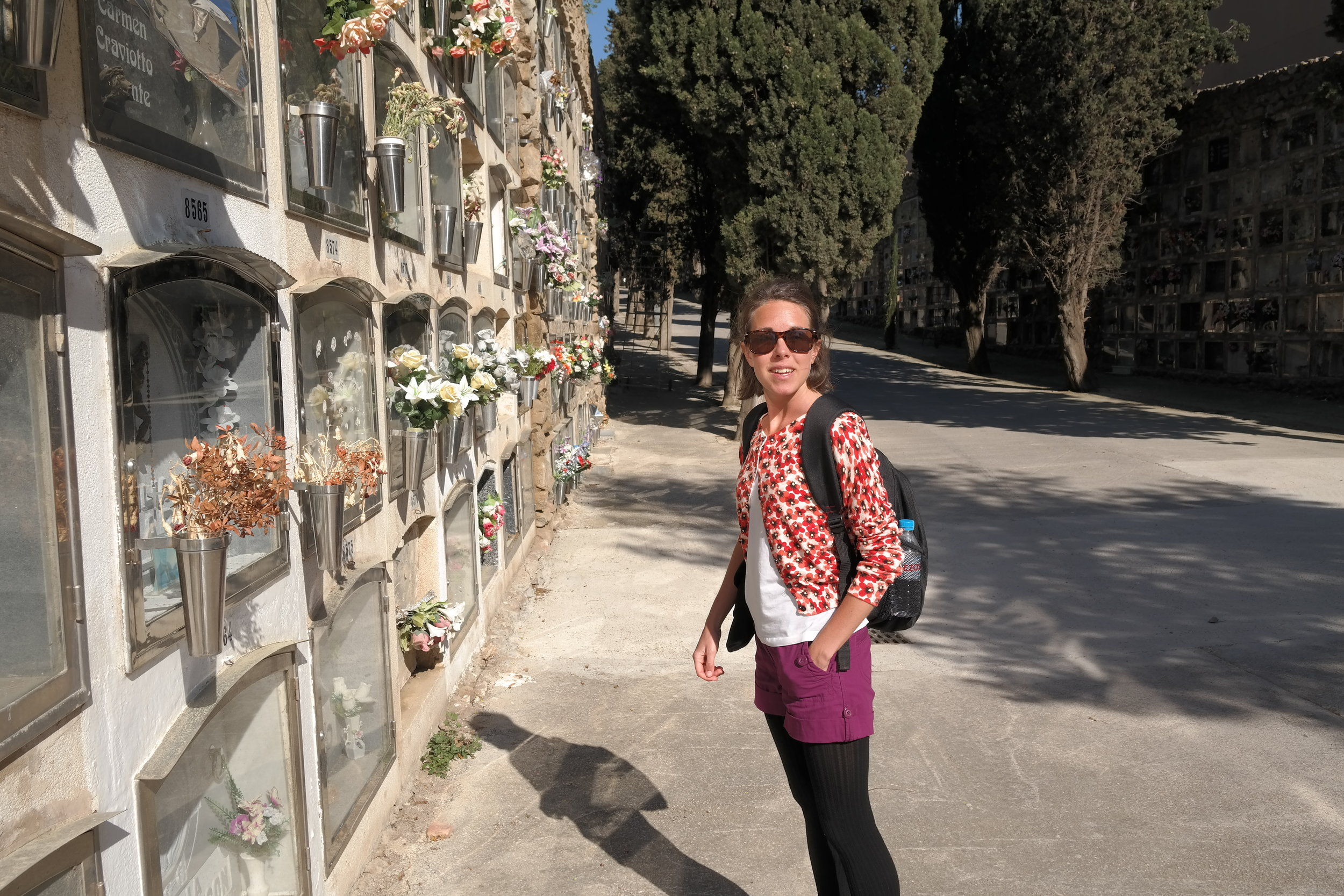 Kyrkogården Montjuic i Barcelona är såväl vilsam som skrämmande.