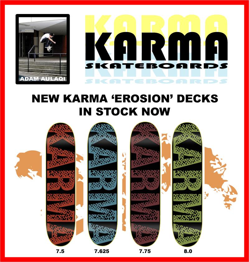 Karma Skateboards New Erosion Decks