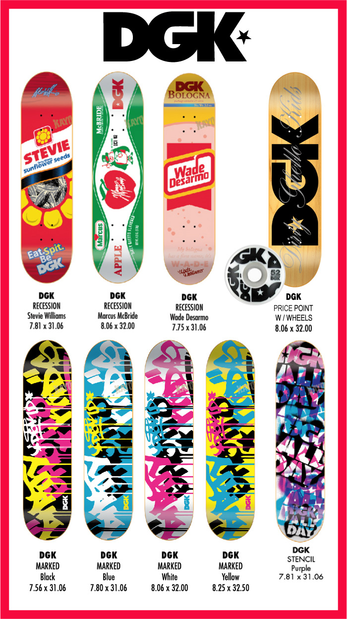 DGK Skateboards, New Decks