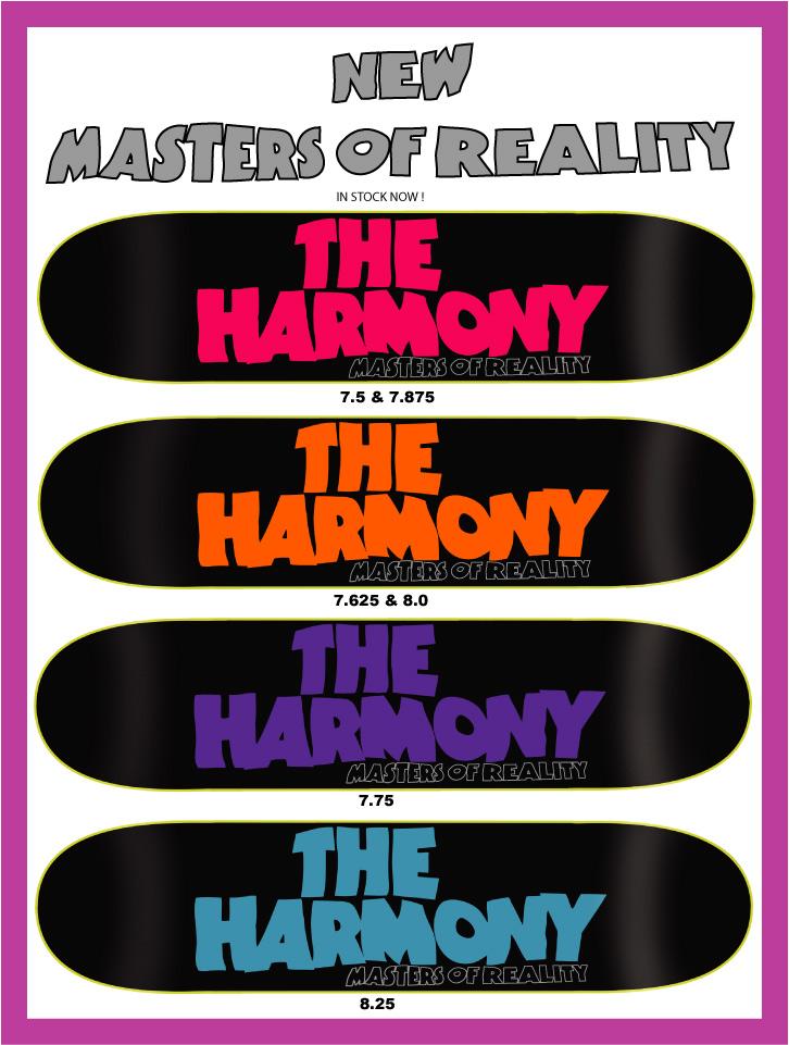 Harmony Skateboards, New Decks