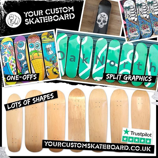 Did you know we can also print one-offs and short-runs of decks? Check out @yourcustomskateboard for more info or contact us the usual ways. Ideal for gifts, prize giveaways, wall signage, or maybe just treat yourself! 👊
