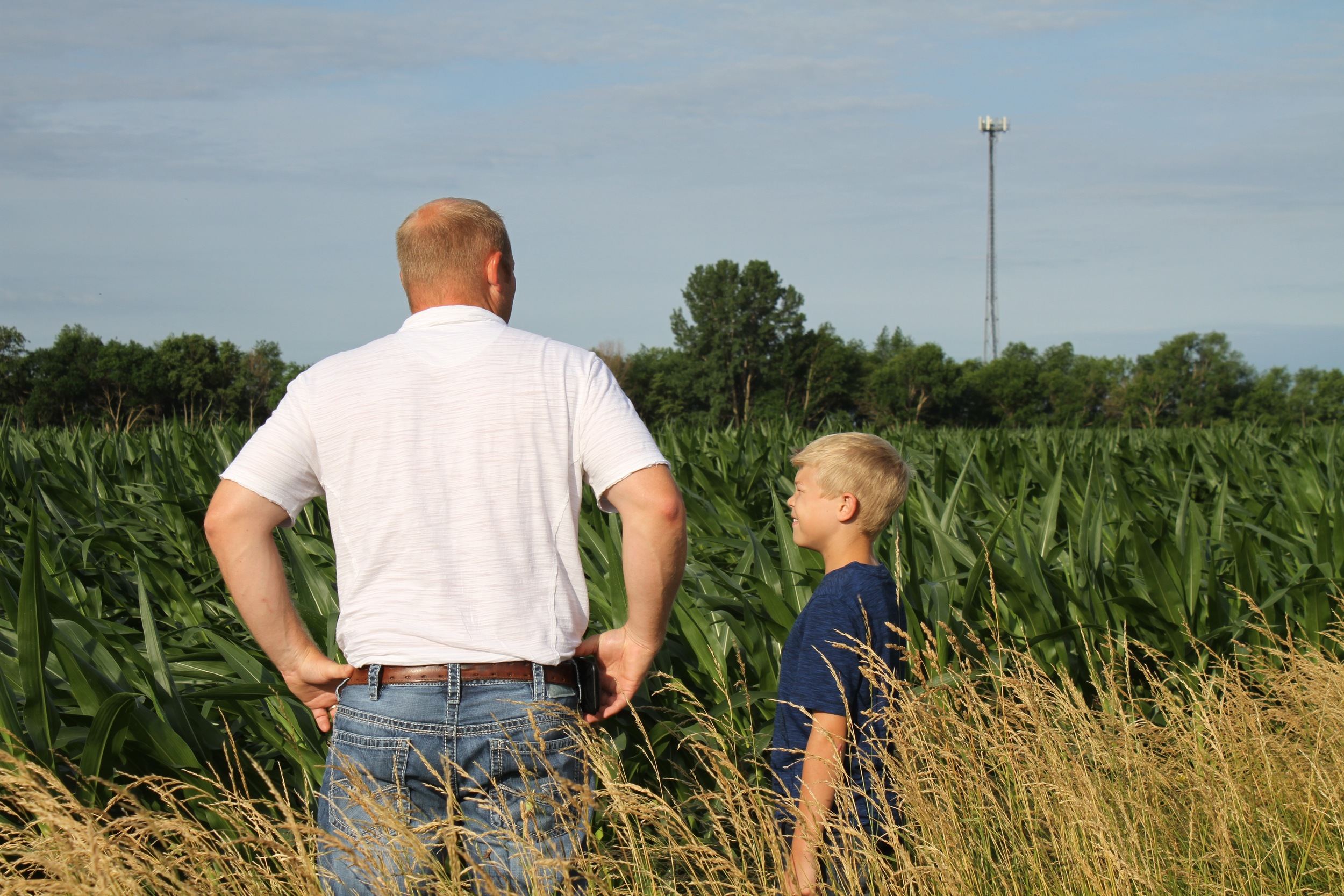 Garrett and his son, Cael.