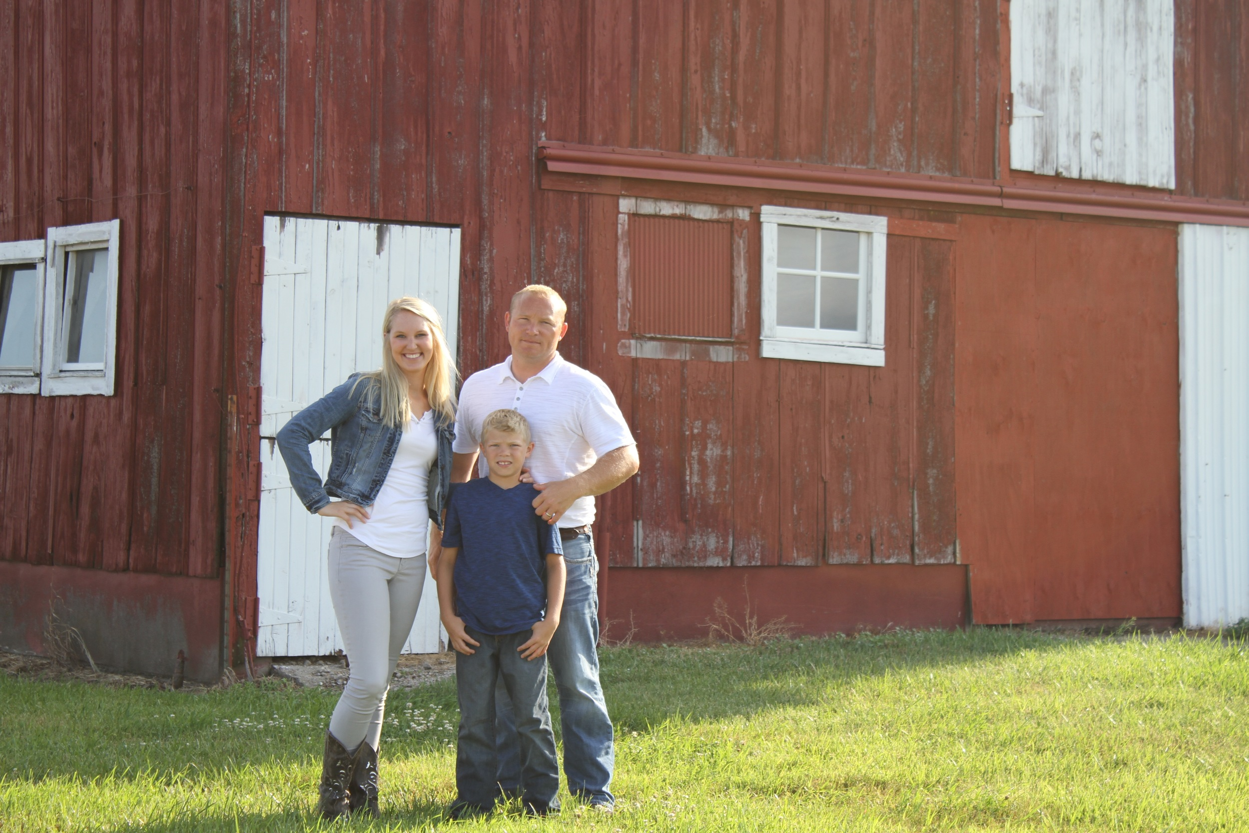 Garrett with his son, Cael, and sister, Chandler.