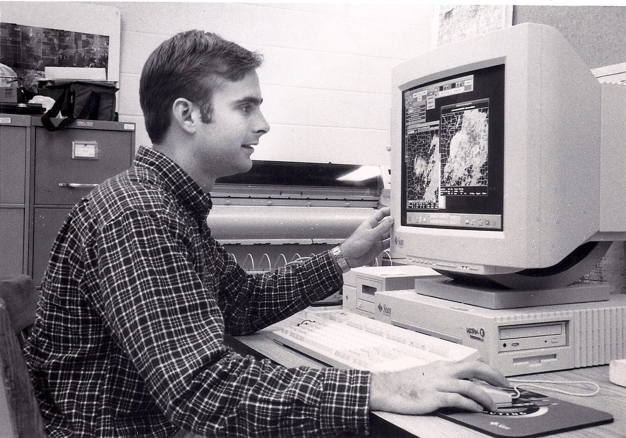 Chris Harbourt circa 1990s as a graduate student in the Department of Agricultural and Biological Engineering at the University of Illinois Urbana-Champaign.