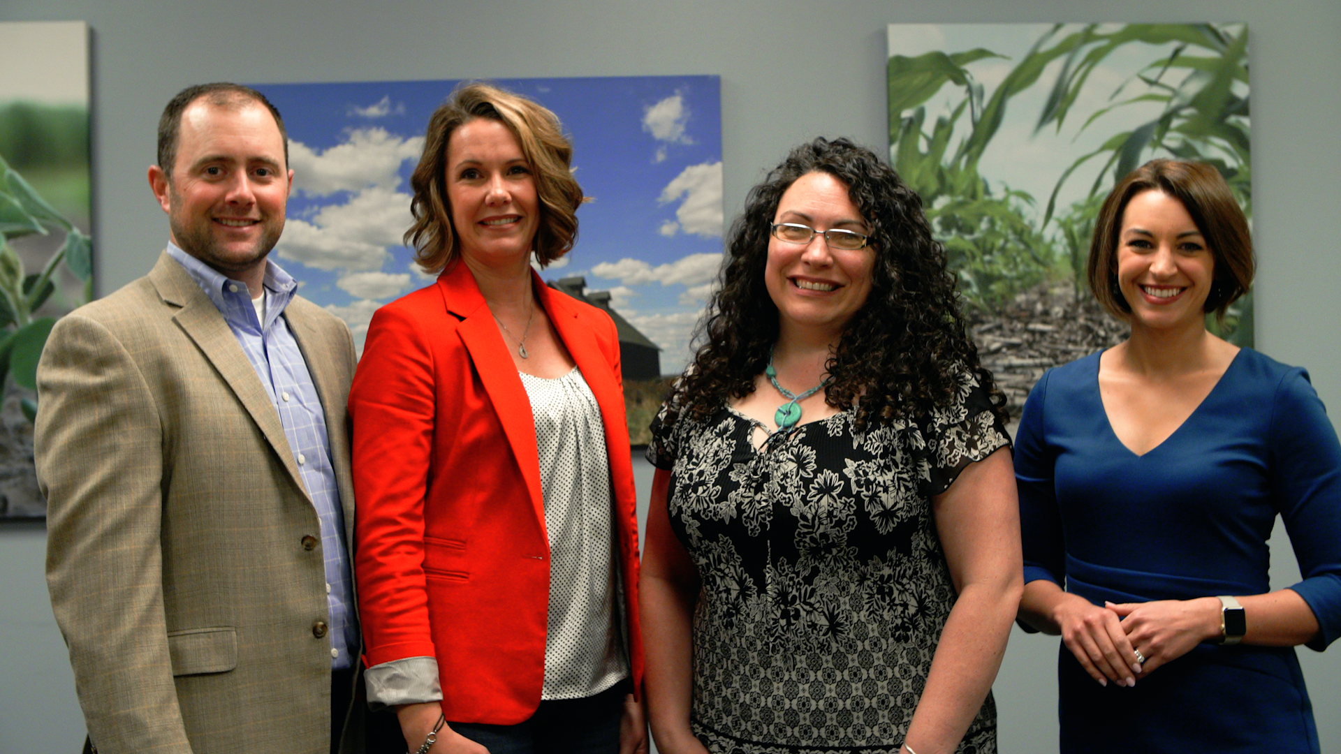(Pictured from left to right: Brett Haas, Crop Copter Co-owner and Sales Manager, Angie Barnard, Illinois 4-H Foundation Executive Director, Lisa Bouillion Diaz, Illinois 4-H Director, and Cynthia Bruno, Agrible, Inc. Chief Strategy Officer.)