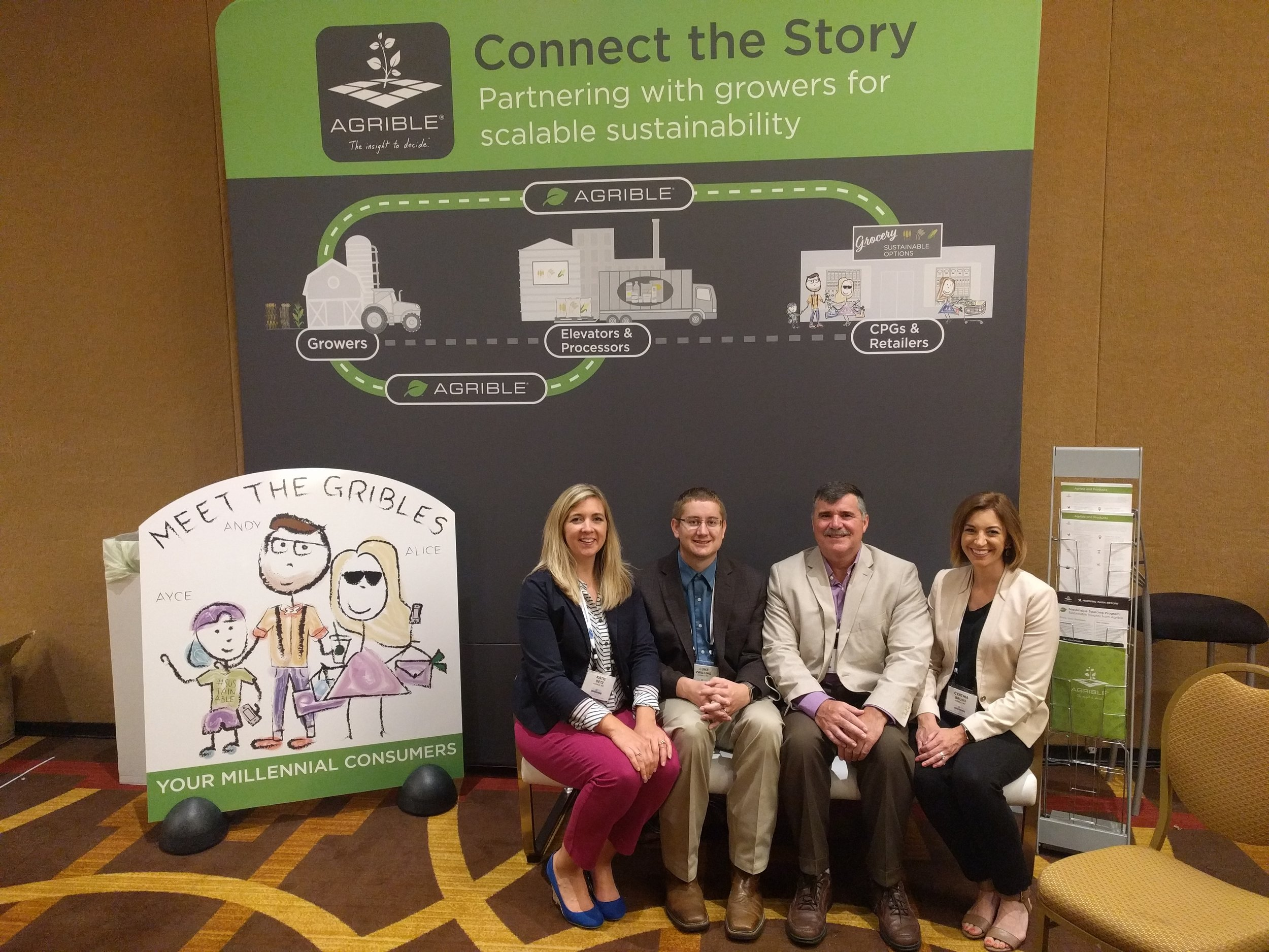 Pictured from left to right: Agrible team members: Katie Betz, Luke Zwilling, Jeff Peters, Cynthia Bruno.