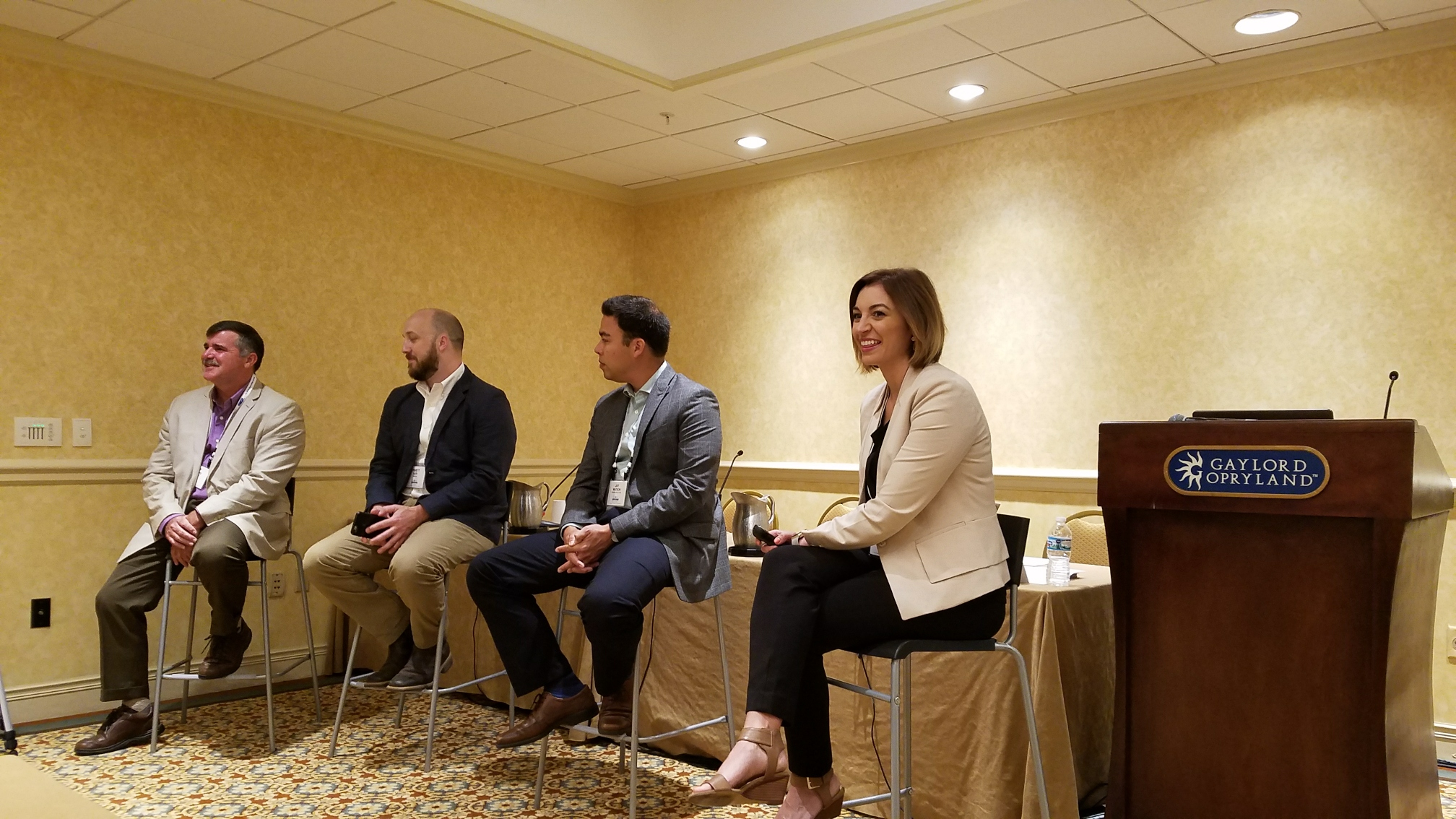 Pictured from left to right: Jeff Peters, Agrible; Truett Asti, Barilla; Jay Watson, General Mills; Cynthia Bruno, Agrible.