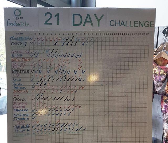 The May 21 Day Yoga Challenge is well underway! _ Congratulations to all yogis taking part - you're doing an amazing job!👍👍 _ #freedomtobe #breezeyogabeckenham #breezeyoga #yoga #hotyoga #pilates #studio #yogastudio #yogaeverywhere #yogalondon #yogainlondon #lovebeckenham #committoyourpractice #may21daychallenge #changeyourlife
