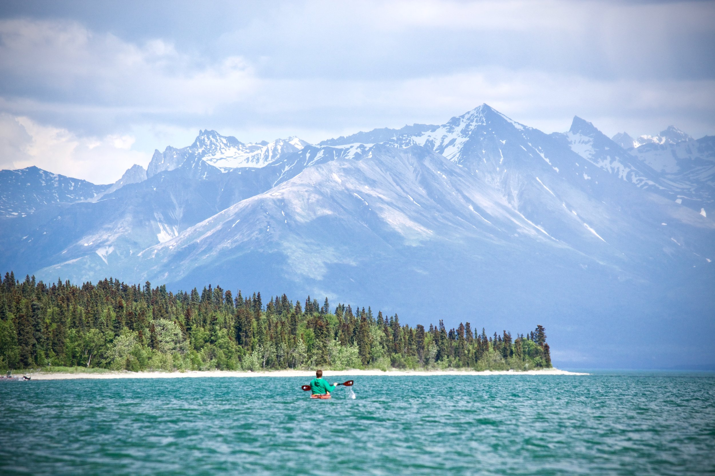 kayaker lake clark